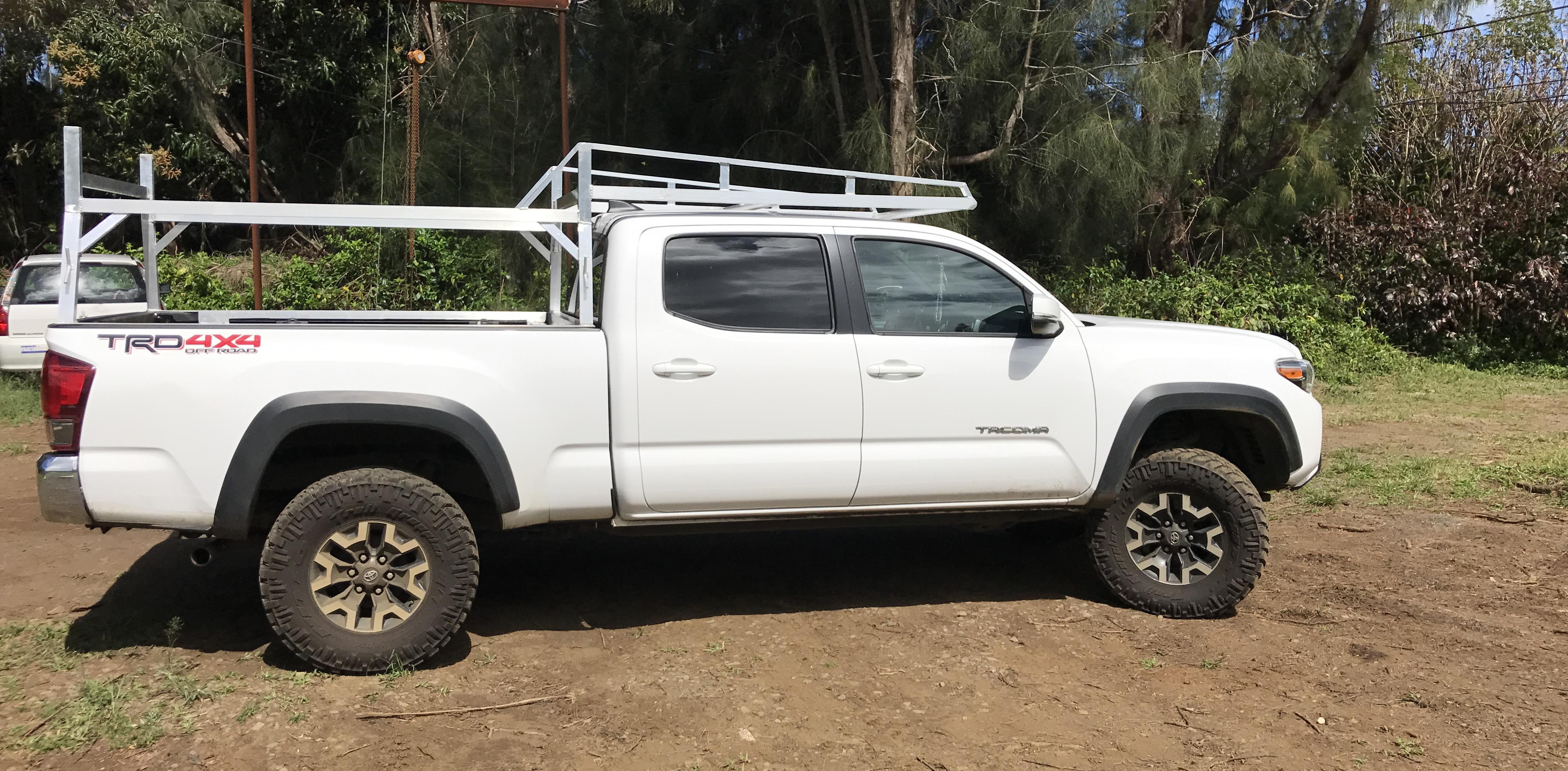 Certified Welding Maui custom truck rack on truck